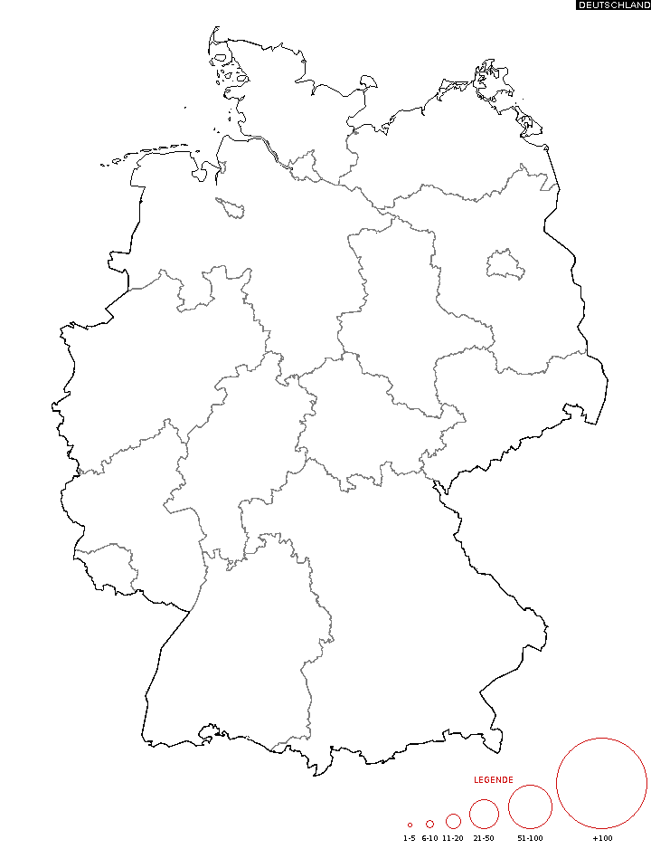 namen deutschland karte Diffusion des Nachnamen   Karte zum Namen