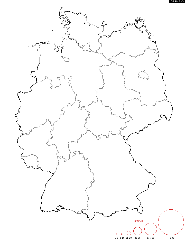 Distribution of surname   Germany Surname Map